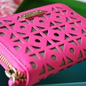 pink katespade wallet
