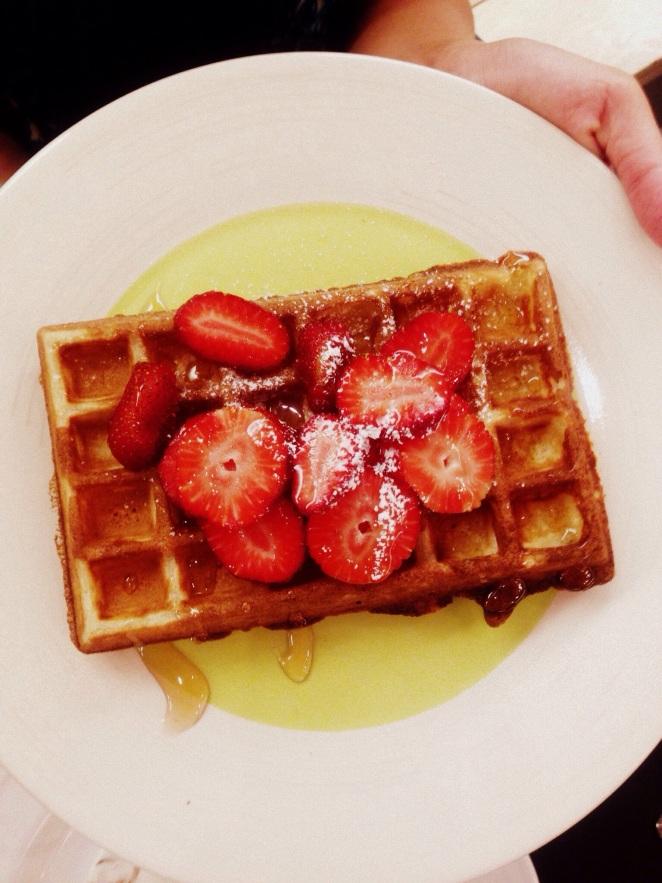 strawberry wafles