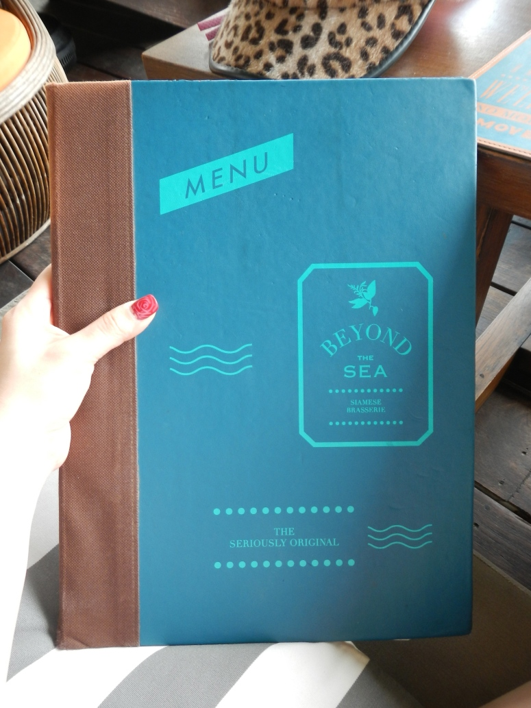BEYOND THE SEA, Siamese Brasserie Menu