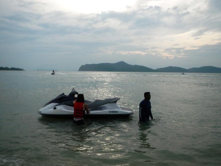 Sun sand sea jetski