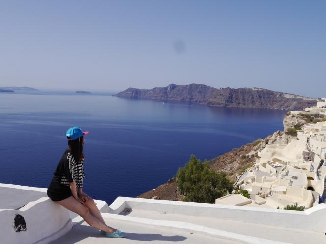 Landscape Santorini Sea