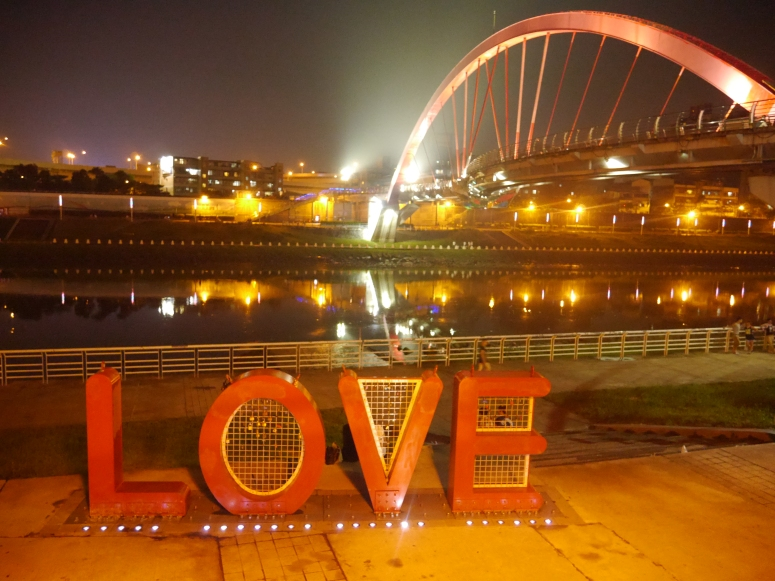 LOVE Taiwan Rainbow Bridge Keelung River