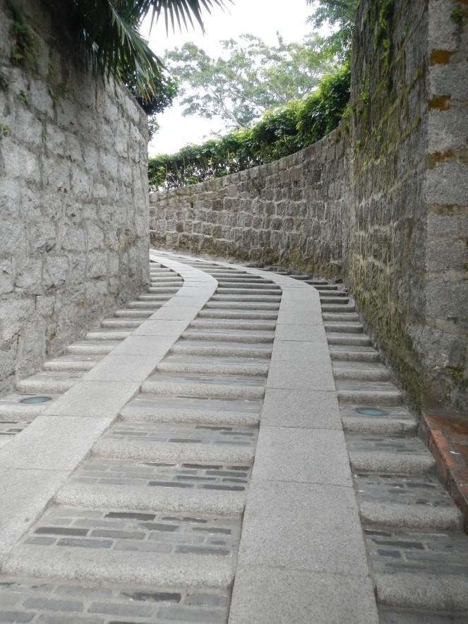 Winding steps Museum of Macau