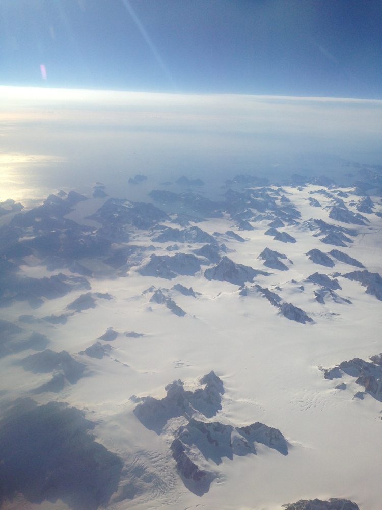 greenland from the sky