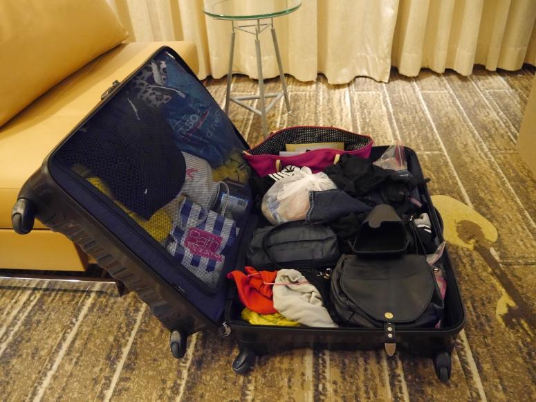 bursting luggage