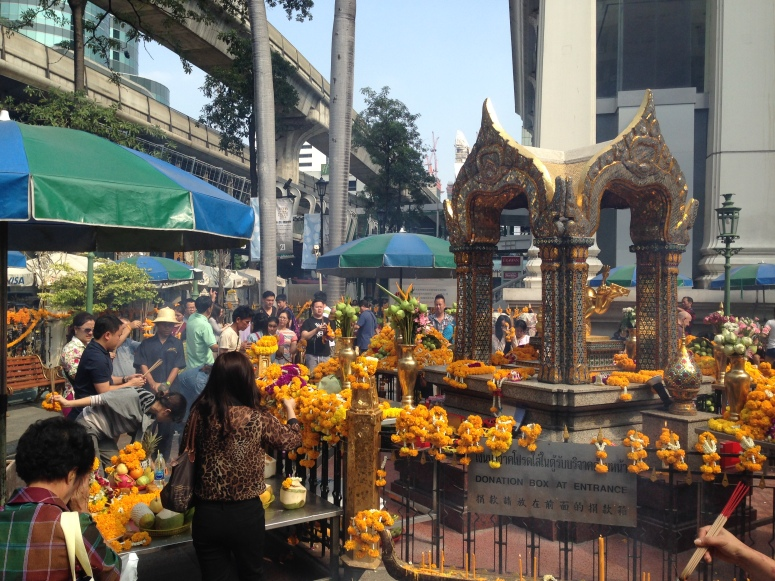 Prayers Bangkok Erawan Shrine