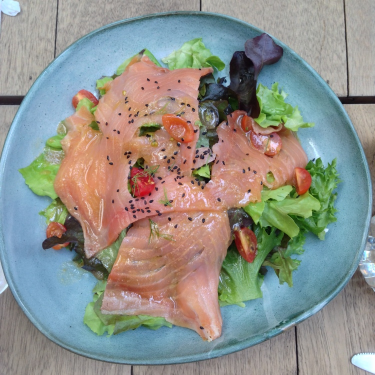 Smoked salmon salad - my all-time salad of choice