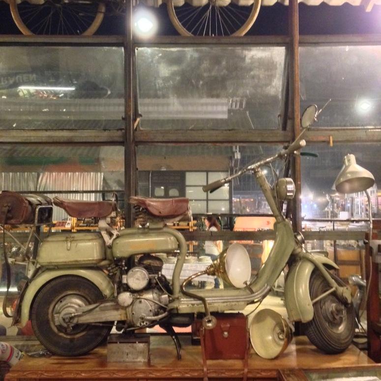 Vintage bikes...vespa?